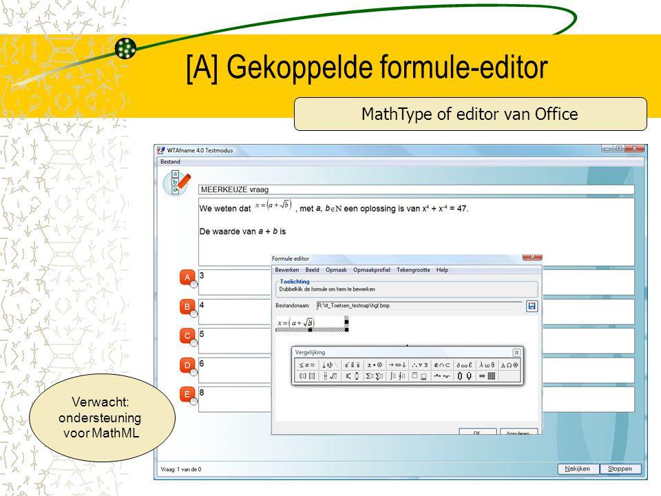 [A] Gekoppelde formule-editor